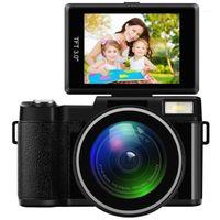 24MP كامل HD 1080P 4x تكبير رقمي كاميرا 180 درجة للتدوير 3.0 بوصة شاشة LCD فيديو vlog كاميرا كاميرا 1