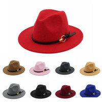 Centilmen Yün İçin Erkekler Fedora Şapka Geniş Brim Caz Kilisesi Cap Bant Geniş Düz Brim Caz Şapka Şık Trilby Panama Caps