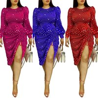 Femmes Plus Taille Robes Polka-Dot Strap Strap Sexy Spring Africain Spring Summer Automne Automne Hiver Plus-Taille Robe Plus Taille Robes