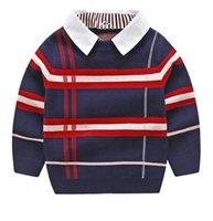 Ragazzi Sweaterhirt Autunno Inverno Brand Brand Giacca Cappotto per Toddle Baby Boy Maglione 2 3 4 5 6 7 anni Vestiti per ragazzi