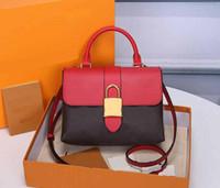 النمط الأصلي جودة عالية جلد طبيعي قفل bb الشيخوخة حقائب اليد قفل postman حقيبة المحمولة الإناث حقيبة حقائب الكتف حقائب اليد