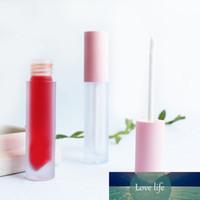 Frosted rosa rosa labio brillante tinte tubos de plástico DIY maquillaje vacío grande lipgloss líquido caja de lápiz labial de belleza Embalaje de belleza 20pcs / lot