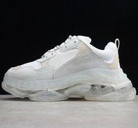 2020 Paris Sapatos Casuais Triple S Clear Sole Trainers Dad Sapatos Sneaker Preto Homem Superized Mens Mulheres Melhor Qualidade Corredores Chaussures
