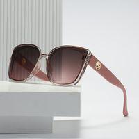 2021 Neue Mode Dame Übergroße Quadrat F Sonnenbrille Frauen Männer Kleine F Gläser Gradient Sonnenbrille Weibliche UV400 32002