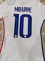 Oyuncu Sürümü Maillot Futbol Jersey Ev Mavi # 10 MBappe # 7 Griezmann # 13 Knate 20/21 İki Yıldız Uzak Beyaz Futbol Gömlek Özelleştirilmiş