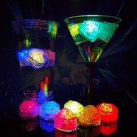 플래시 러브 아이스 큐브 물 - 활성화 된 플래시 LED 빛 파티 웨딩 바에 대 한 자동으로 물 음료 플래시에 넣어 크리스마스 용품