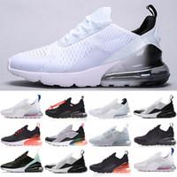 Max 270 2020 Top Quality per i Mens Scarpe da ginnastica bianche colorati Cuscino lupo grigio Triple Nero core Athletic Shoes 36-45