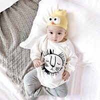 Milancel Baby Одежда набор милый боди льва и леггинсы 2 шт. Детские мальчики костюм малыша девушка боди LJ201223