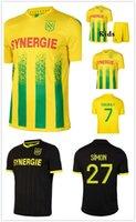 20-21 FC Nantes Jersey 2020 2021 Simon Louza Um Toure Blas Coco Coulibaly Maillot de pé Homens + Kid Kits conjunto de futebol uniforme