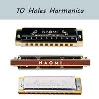 Naomi Professional Blues Harp 10 Foro Harmonica Armonica Culla Diatonica Arpa Eccellente Body Key del regalo di Natale C