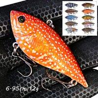 1 ADET 10 Renk 6.95 cm 12g VIB Balıkçılık Kanca Fishhooks 6 # Kanca Sert Yemler Lures Pesca Olta Takımı LL-183