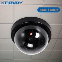 منتج جديد قبة محاكاة السرقة إنذار الكاميرا وهمية كاميرا دمية مراقب مع أحمر ستروب light1