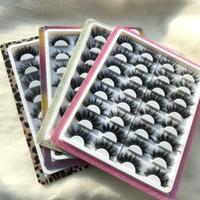 16paare flaumig nerz Wimpern Tablett mit Strass umgeben 20mm 25mm 27mm dramatische Wimpern 5d 3d Eye Lash Händler