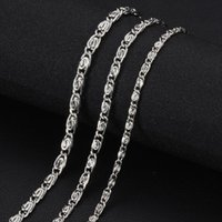 Ketten 316 Edelstahl Halskette und Armbandkette DIY Schmuckzubehör Multi Größen mit Hummerklaue-Klammern S-006