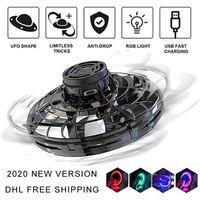 Flying Flynova Fidget UFO Spinner Jouets 2020 Nouveau Spinner Enfants LED 360 ° Rotant Toys Flying Toys Decompression Vol Gyro DHL