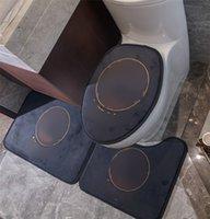 Ins Mode Toilettenmatte Klassische Alphabete Toilette Sitzbezug Weiche Touch Baumwolle Lintertürmatte Home Hotel Badezimmer Teppiche
