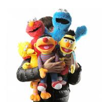 Taille originale 32cm Sesame Street Peluchers Toys Sesame Street Kaw Cookie Figurines Soft Peluche Anniversaire Cadeaux Jouets pour enfants