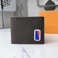 2020 NOUVEAUX MEN Portefeuille Mens Portefeuille Haute Qualité Mode Titulaire de carte de crédit Long Porte-Porte-Porte-Porte-Porte-Porte-monnaie multiples avec boîte