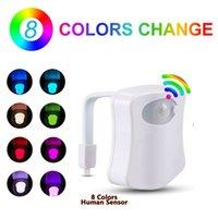 Haoxin 스마트 pir 모션 센서 화장실 좌석 밤 빛 16 색 방수 백라이트 led luminaria lamp wc 화장실 빛
