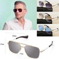 Star Dwayne Johnson oder James Bond Dieselbe Sonnenbrille 007 Series Quadratische Gläser-Designer-Sonnenbrillen mit einem Satz Original-Boxen