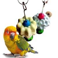 الأضراس الطيور الببغاء مضغ حجر لعبة طحن حجر سلسلة الببغاء الببغاء الفم طحن لعبة قفص الملحقات هدايا الحيوانات الأليفة