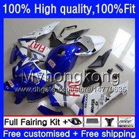 100% Fit For HONDA CBR600F5 CBR600 RR CBR600RR 05 48HM.238 CBR 600RR White blue CBR 600 CC RR 600CC F5 05 06 2005 2006 Injection Fairings