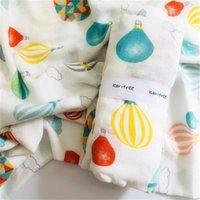 Karitree Baby Muslin Swaddle Cobertores Toalha 70% Bambu + 30% Algodão Toalha Recém-nascido Swaddle Cobertores Wrap LJ200819