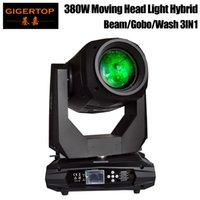 Gigertop Nueva 380W 3IN1 en movimiento Función Rayo de luz del punto de lavado Gobo 3 EN 1 Efecto Profesional Etapa de iluminación del foco del zumbido RDM