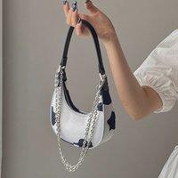 Мода коровяной узор женская сумка для наплечника дизайнер маленьких цепей сумки мессенджера на молнии крестовое тело женский круассан мешок для женщин C0308