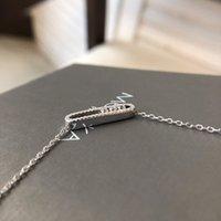 925 Sterling Silber Messika Halskette Französisch Drei Diamant Move Serie Rose Gold Überzogene Original Marke Fine Schmuck für Frauen C0319