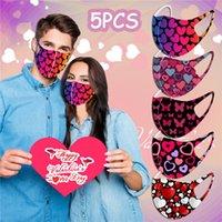 2021 Mascarilla de impresión de Día de San Valentín Máscara transpirable lavable Deporte al aire libre A prueba de viento A prueba de polvo A prueba de polvo Máscaras de ciclismo Diseñador Máscaras T9I001032
