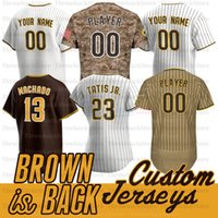 San Diego Fernando Tatis Jr Jersey Manny Machado Darvish Tony Gwynn Snell Musgrove Eric Hosmer Brown Back Jerseys