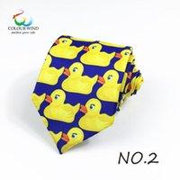 오리 인쇄 된 디자인 폴리 에스터 ducky 넥타이 인쇄 전문 넥타이 당신의 어머니 TV 쇼 노란색 고무 오리 넥타이 gift1
