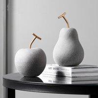 장식 개체 인형 사과 배 장식 현대 미니멀 홈 도자기 크리 에이 티브 과일 입구 거실 와인 캐비닛 소프트 드