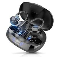 V5.0 Наушники Светодиодные дисплей 2600mah Зарядная коробка с микрофоном Водонепроницаемые наушники