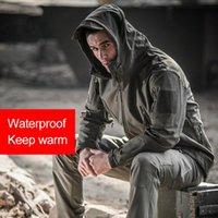 Giacche da uomo Uomo Impermeabile Antivento antivento Softshell in pile Vento a vento con cappuccio per all'aperto SER88