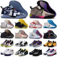 Yüksek Kalite Mamba Vast Gri Mamba V Lakers Protro 5 Erkekler Baskeball Ayakkabı Sneakers Eğitmen Boyutu 40-46