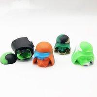 Samurai-Form-Silikon-Nichtstick-Wachs-Container 5ml Gummi-Nahrungsmittelgrad DAB-Werkzeug-Speicher-Wachs-Ölhalter für Konzentrat-Wachs-Öl-Topf-Container