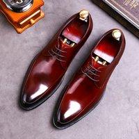 Desai 브랜드 정품 가죽 비즈니스 드레스 신발 남성 공식적인 착용 캐주얼 영국 대형 가죽 신발 지적 발가락 옥스포드