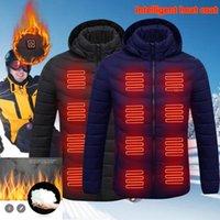 Hommes Femmes chauffées à l'extérieur Parka Manteau USB Batterie USB Chauffage Vestes à capuche Chaud Hivernage Veste thermique