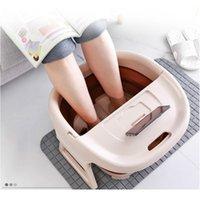 Pied de bain de pieds pliable Seau à pied Seau mousse Massage Bucket Sucket Sauna Baignoire Basine de baignoire Réduire Jlllof