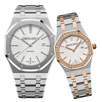 Montre de Luxe Mens Automatic Watches Lady Watches Dress Full Acciaio inox Sapphire impermeabile Couples luminose Style Classic WristWatche