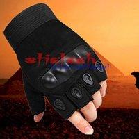 DHL или EMS 100 шт. Тактические перчатки Восхолите без пальцев Безвозмездная Велосипеда Антиспид Фитнес Спортивные тренировки запястье