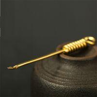 77mm de longitud de latón Cuchara de cobre Tubo de fumar herramienta de limpieza Dab Dabber Spoon Dabber Wax Tool DHL Envío gratis