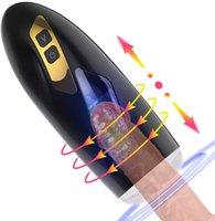 Masturbator masturbator Pocket Pussy Stroker Coupe de masturbation avec 10 modes de rotation de poussée puissants et 3D réaliste Vagina Sexe Oral Jouets