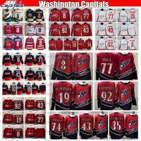 2021 Retro Retro Capitales de Washington Champions Alex Ovechkin TJ Oshie Backstrom Evgeny Kuznetsov Tom Wilson Lundqvist Carlson Jersey