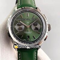 GF Premier B01 Chronograph 42 British Racing Green Dial AB0118A11L1X1 ETA A7750 Cronógrafo Reloj automático para hombre Caja de acero Relojes de cuero