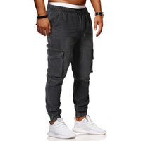 Erkek Sıcak Satış Kot Rahat Slim Elastik Bel Pantolon Erkek Harem Pantolon Pamuk Yüksek Kalite Artı Boyutu 4XL