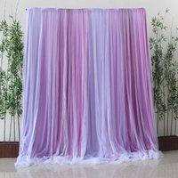 Luz oscura púrpura de fondo de gasa púrpura fotografía de tul multicolor fondo cortina boda recién nacido bebé baby shower decoración de fiesta