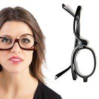 Onevan-Lupe rotierende Make-up-Lesebrille falten Brillenkosmetik-General +1,0 +1,5 + 2,0 + 2,5 + 3,0 + 3,5 + 4.0
